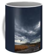 Rural Road In Lightning Storm Coffee Mug