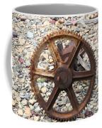 Rusted Gear Wheel Glacier National Park Montana Coffee Mug