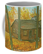 Rustic Cabin At Lake Hope Ohio Coffee Mug