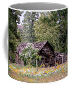 Rustic Cabin In The Mountains Coffee Mug by Athena Mckinzie