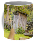 Rustic Fence And Outhouse Coffee Mug