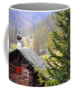 Rustic House And Tree Coffee Mug