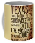 Rustic Texas Art Coffee Mug