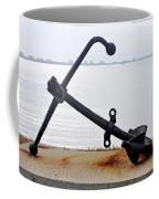 Rusty Black Boat Anchor By Sarasota Harbor Usa Coffee Mug