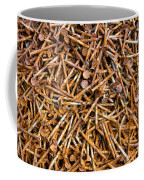 Rusty Nails Abstract Art Coffee Mug