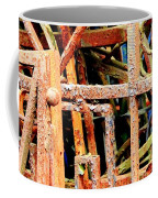 Rusty Railings Square Coffee Mug