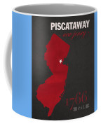 Rutgers University Scarlet Knights Piscataway Nj College Town State Map Poster Series No 092 Coffee Mug