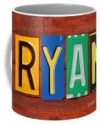 Ryan License Plate Name Sign Fun Kid Room Decor. Coffee Mug