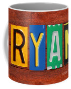 Ryan License Plate Name Sign Fun Kid Room Decor. Coffee Mug
