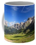 Saas Pordoi And Fassa Valley Coffee Mug