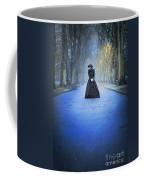 Sad Victorian Woman Alone In A Park At Dusk Coffee Mug