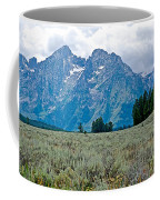 Sagebrush Flatland And Teton Peaks Near Jenny Lake In Grand Teton National Park-wyoming- Coffee Mug