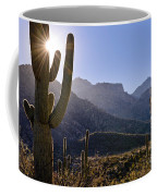 Saguaro Cacti And Catalina Mountains Coffee Mug