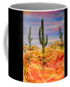 Saguaro Cactus Desert Landscape Coffee Mug