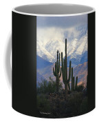 Saguaros And Snow Coffee Mug