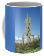 Saguaros With Green Grass Coffee Mug