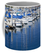 Sail Boats Docked In Marina Coffee Mug