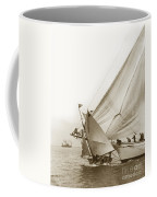 Sail Boats Little Anne And Virginia Collision On San Francisco Bay Circa 1886 Coffee Mug