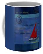 Sail Sail Sail Away - J173131140v02 Coffee Mug by Variance Collections