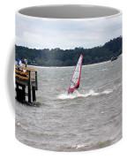 Sailboarder At Hilton Head Island Beach Coffee Mug