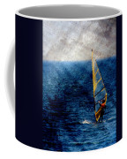 Sailboarding W Metal Coffee Mug