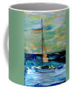 Sailboat And Abstract Coffee Mug