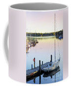 Sailboat At Sunrise Coffee Mug