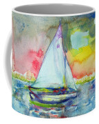 Sailboat Evening Wc On Paper Coffee Mug