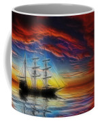 Sailboat Fractal Coffee Mug by Shane Bechler
