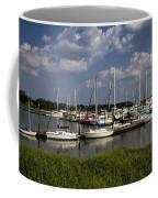 Sailboat Harbor At St. Simon's Island Coffee Mug