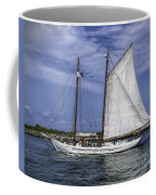 Sailboat In Cape May Channel Coffee Mug