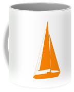 Sailboat In Orange And White Coffee Mug