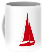 Sailboat In Red And White Coffee Mug