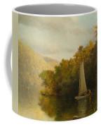 Sailboat On River Coffee Mug