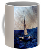 Sailboat Slow W Metal Coffee Mug