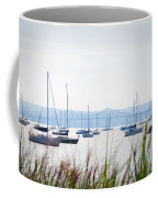 Sailboats At Rest Coffee Mug by Bill Cannon