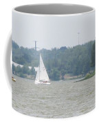 Sailboats At White Rock Lake Coffee Mug