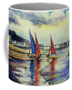 Sailing At Penarth Coffee Mug
