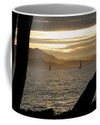Sailing At Sunset On The Bay Coffee Mug