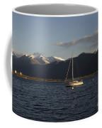 Sailing Boat On An Alpine Lake Coffee Mug