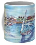 Sailing By Shoreline Village Coffee Mug