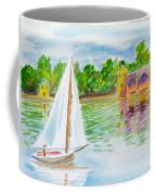Sailing By The Bridge Coffee Mug