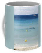 Son Bou Beach In South Coast Of Menorca Is A Turquoise Treasure - Sailing In Blue Coffee Mug