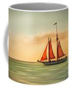Sailing Into The Sun Coffee Mug by Hannes Cmarits
