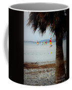 Sailing On A Cloudy Morning Coffee Mug by Lainie Wrightson