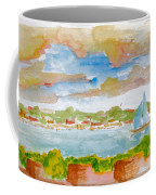 Sailing On The River Coffee Mug