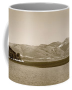 Sailing Ship In The Adriatic Islands In Sepia Coffee Mug