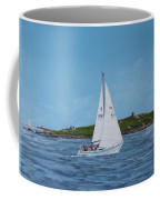 Sailing Through Dalkey Sound Coffee Mug