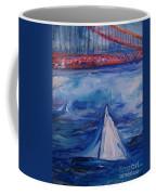 Sailing Under The Golden Gate Coffee Mug