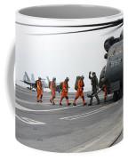 Sailors Board An Mh-53e Sea Dragon Coffee Mug